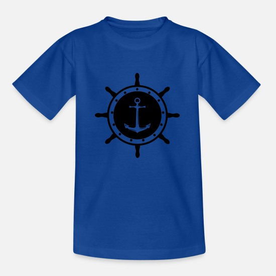 Pirate T-Shirts - helm anchor 1 - Kids' T-Shirt royal blue