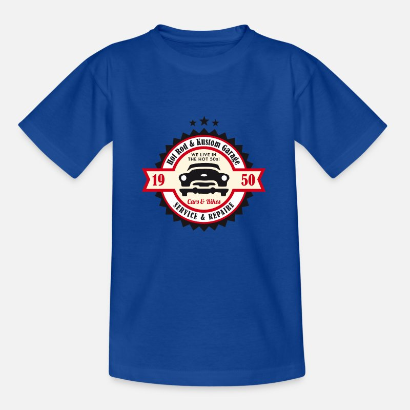 Hot Rod T-Shirts - Hot Rod en Kustom Garage - Kinderen T-shirt koningsblauw