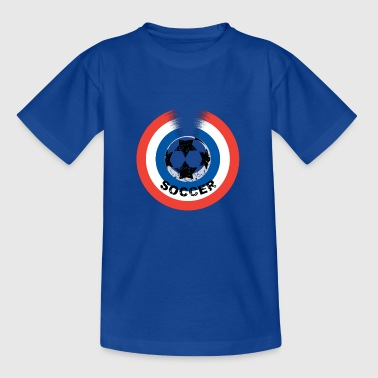 Red White And Blue Football blue white red - Kids' T-Shirt