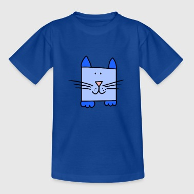 Blue cat - Kids' T-Shirt