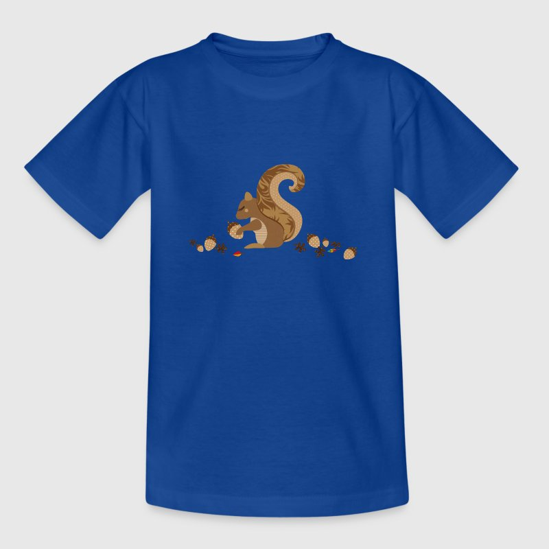 A squirrel with an acorn - Kids' T-Shirt