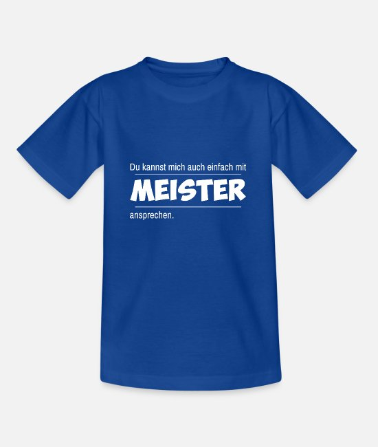 Master T-Shirts - master - Kids' T-Shirt royal blue