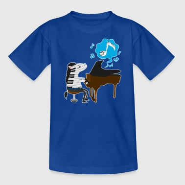 A zebra playing the piano - Kids' T-Shirt