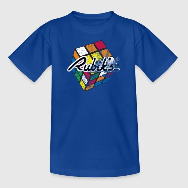Rubik's Cube Colourful Retro Magic Cube - Kids' T-Shirt