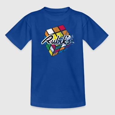 Rubik's Cube Colourful Retro Magic Cube - Børne-T-shirt