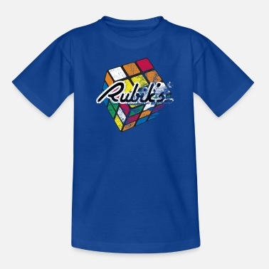 Rubiks Cube Rubik's Cube Colourful Retro Magic Cube - Børne-T-shirt