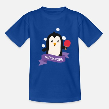 Outdoor Penguin table tennis from SINGAPORE Gift - Kids' T-Shirt