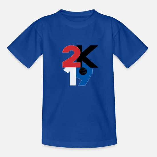 Basket T-Shirts - Basketball Shirt Funny Basketball Rebound Dunk - Kids' T-Shirt royal blue