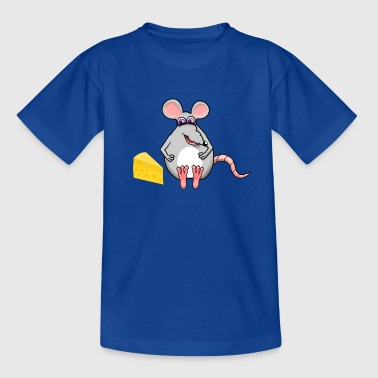 Mouse with cheese - Kids' T-Shirt