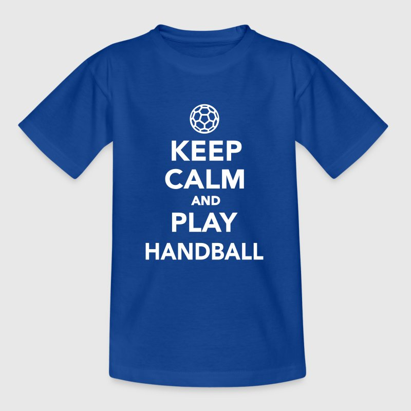 Keep calm and play Handball - Kinder T-Shirt
