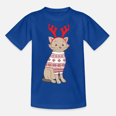 christmas cat - Kids' T-Shirt