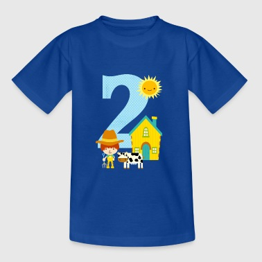 Birthday number 2 farm boy - Kids' T-Shirt