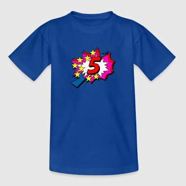 POP Star is 5 years old - Kids' T-Shirt
