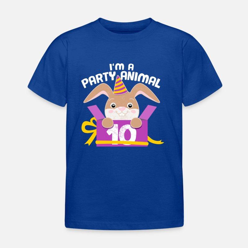 Childrens Birthday 10 Years Bunny Gift Kids T Shirt