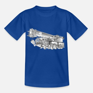 Mobile Crane Mobile Crane 4-axle - Kids' T-Shirt