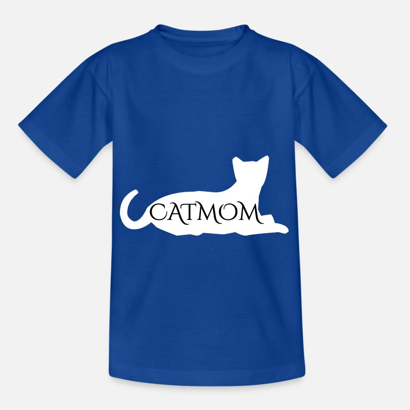 Cat Mom T-Shirts - Kat Mom Cat Mom Gift - Kinderen T-shirt koningsblauw