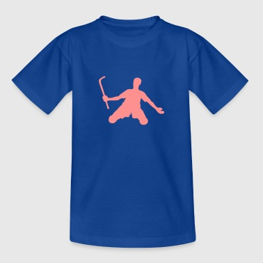 rink hockey silhouette player4 - T-shirt Enfant