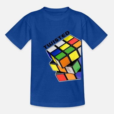 Rubik's Cube Twisted Sides - Kids' T-Shirt
