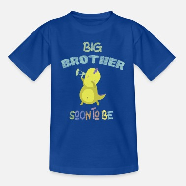 Pregnancy Big Brother Soon to be Baby Announcement DinoDab - Kids' T-Shirt