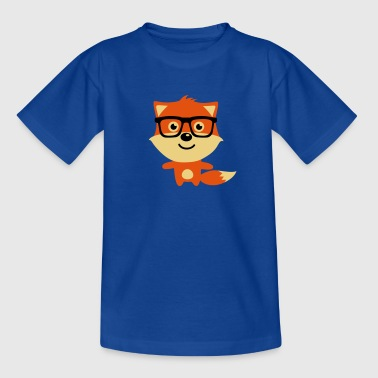 Cute & Funny Hipster Baby fox with nerd glasses - Kinder T-Shirt