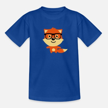 Nerd Fox With Glasses Cute & Funny Hipster Baby fox with nerd glasses - Kids' T-Shirt