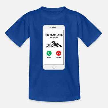 Smartphone Phone - The Mountains Are Calling - Kids' T-Shirt