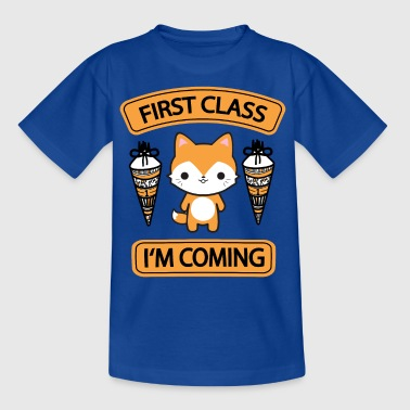 School enrollment - First Class - Kids' T-Shirt