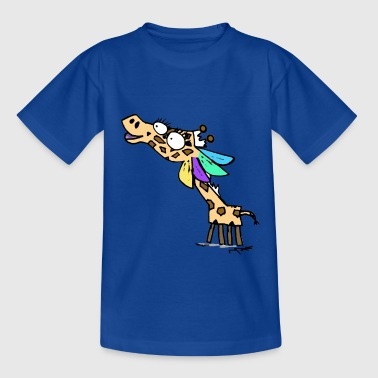 Geraldine the Giraffe Giant Blue T-Shirt - Kids' T-Shirt