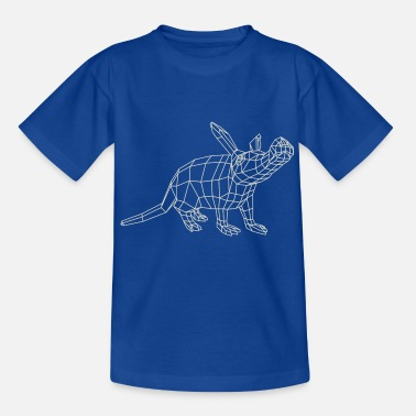 Aardvark Wireframe par Paperwolf - T-shirt Enfant