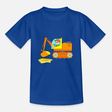 Chantier Excavatrice sur le chantier de construction - chantier de construction de véhicules - T-shirt Enfant