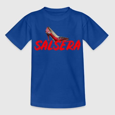 Salsera with high heels - gift for dancers - Kids' T-Shirt