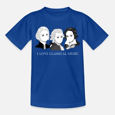 Bach - Mozart - Beethoven: I Love Classical Music - Kinder T-Shirt