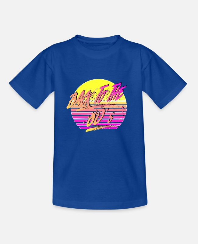 Neon T-Shirts - Back To The 80's - Kids' T-Shirt royal blue