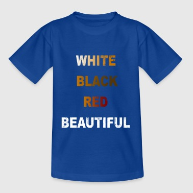 Anti racism white black red gift - Kids' T-Shirt