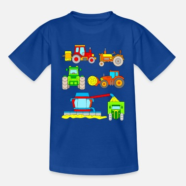 Tractor Tractors for children - vehicles on the farm - Kids' T-Shirt