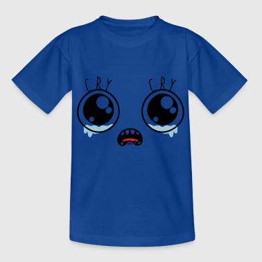 Cry crying cartoon eyes cartoon mourning godigart - Kids' T-Shirt