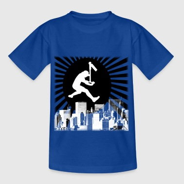 Stunt Scooter Scooter city - Kids' T-Shirt