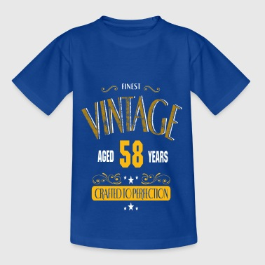Vintage 58 Years Crafted To Perfection - T-shirt Enfant