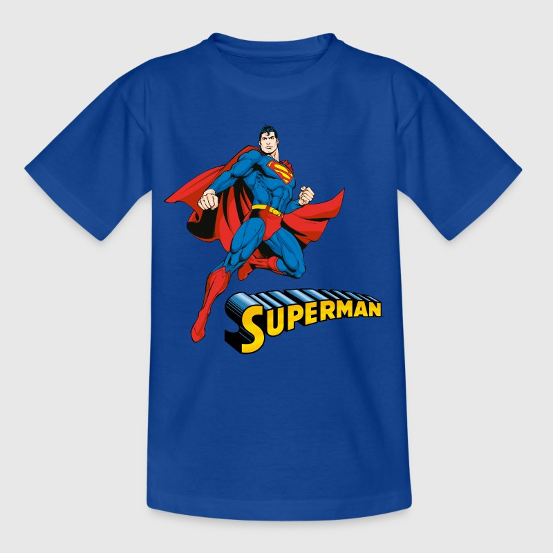 DC Comics Superman Pose Lettrage - T-shirt Enfant