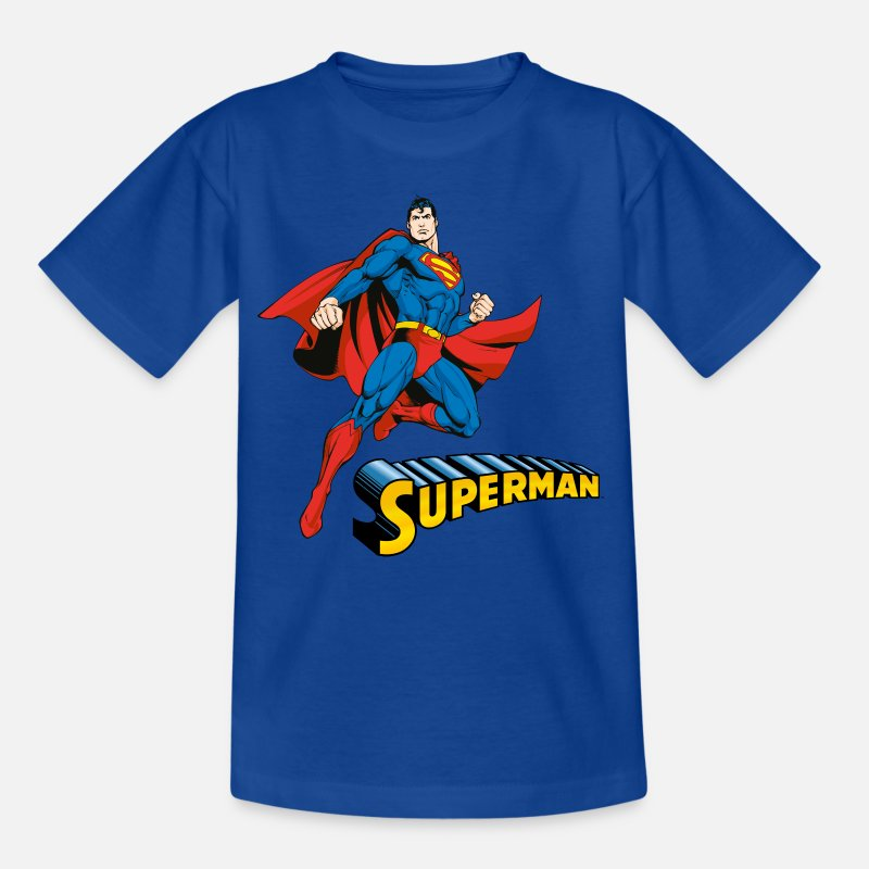 Superman T-Shirts - Superman T-Shirt für Kinder  - Kinder T-Shirt Royalblau