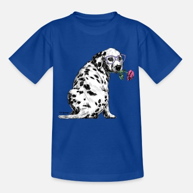 Cats And Dogs Collection PD Moreno Dalmatian with glasses - Kids' T-Shirt