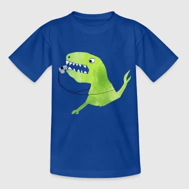 Football Dino: whistle from the referee dinosaur - Kids' T-Shirt