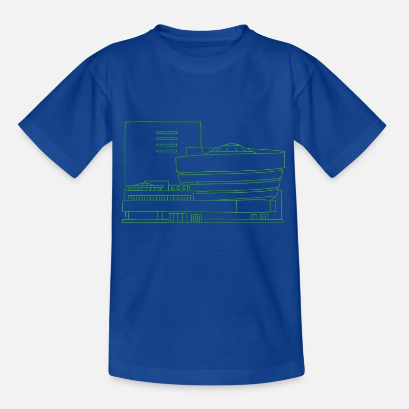 Frank Lloyd Wright T-Shirts - Guggenheim Museum New York - Kids' T-Shirt royal blue