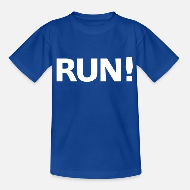 Funny Running Run - Kids' T-Shirt