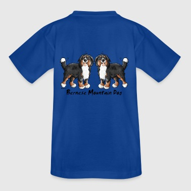 Two funny Bernese Mountain Dogs - Dog - Kids' T-Shirt