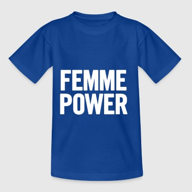 Femme Power White - Kids' T-Shirt