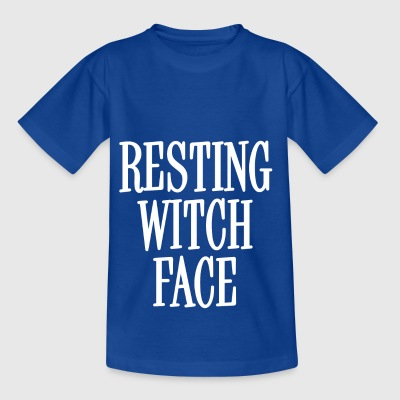 Resting Witch Face White - Kids' T-Shirt