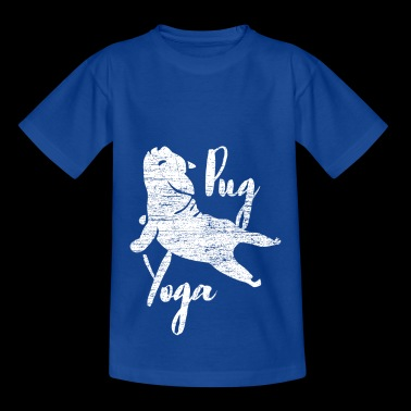 Pug Yoga - Kinder T-Shirt