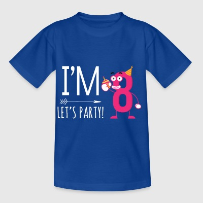I'm Eight. Let's Party! 8th Birthday Gift for kids - Kids' T-Shirt