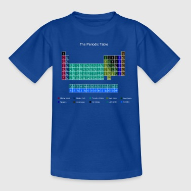 Blue Stylish Periodic Table of Elements - Kids' T-Shirt